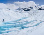 Lonely Hiker, Perito Moreno Gletscher, Argentinien