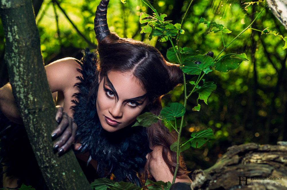 Daemon with Horns in the Woods