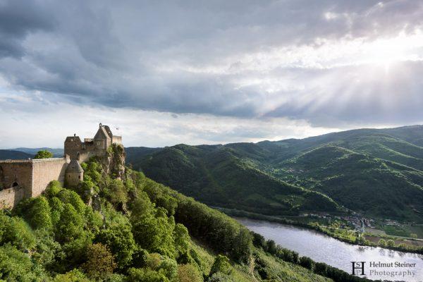 Burgruine Aggstein, Castle Aggstein, Sunset shot, Landschaftsfotografie, landscape photography