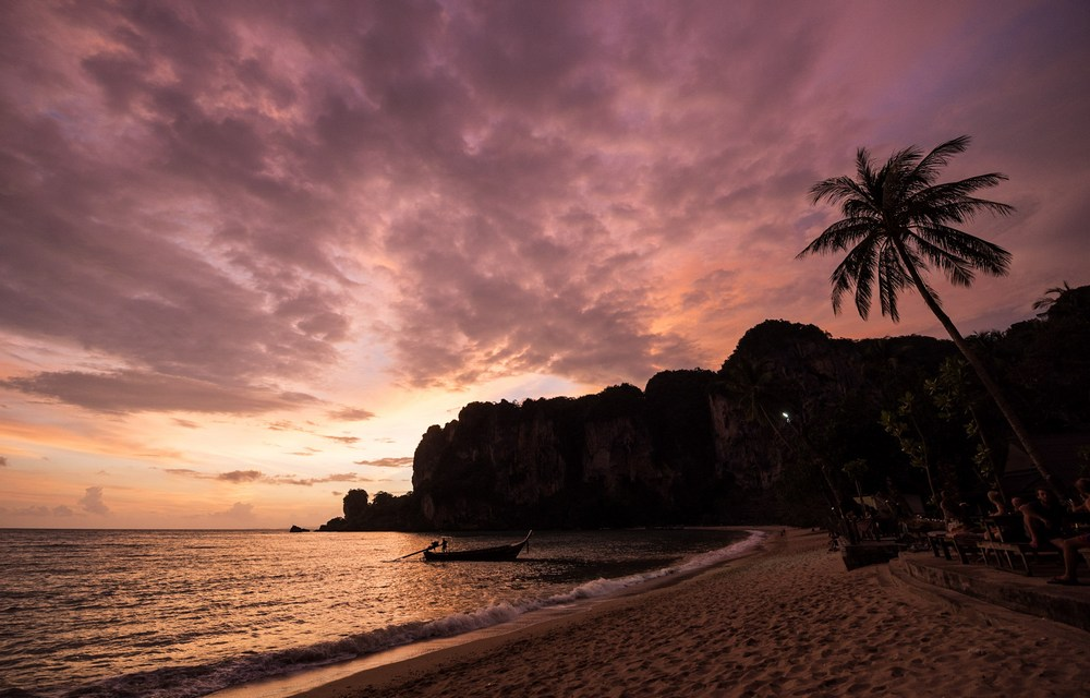 Sunset at Tonsai Beach, Krabi, Thailand