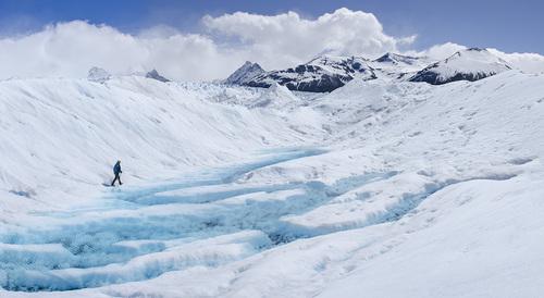 Lonely Hiker, Perito Moreno Glacier, Argentina